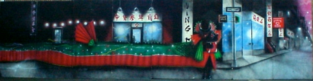 Chinatown- Measures 8 ft high and 32 ft wide, foam core