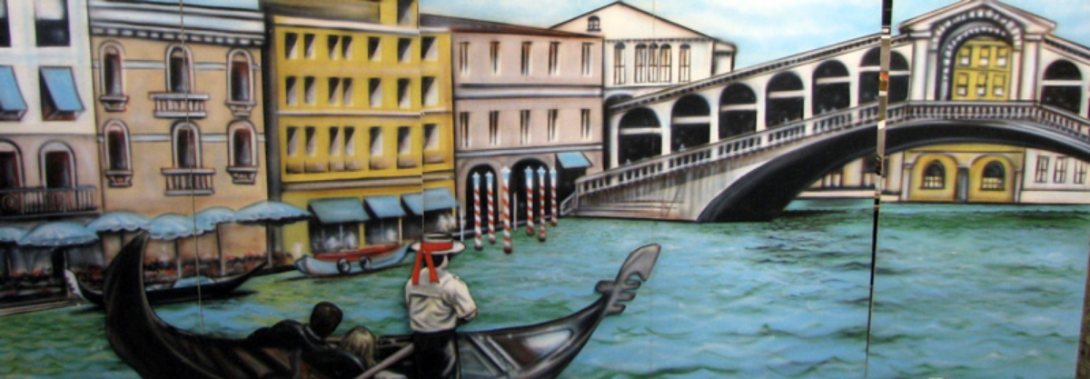 Venice, Italy, Grand Canal 8' high and 20' wide, foamcore
