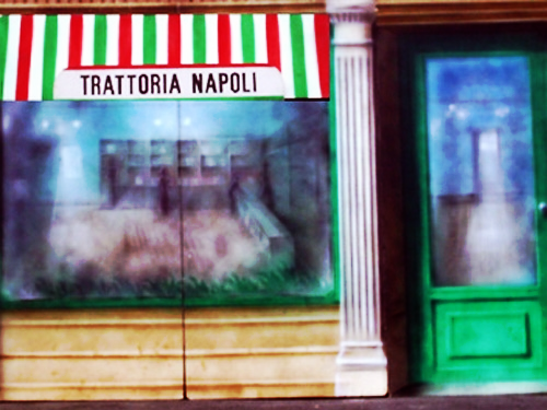 Front of Italian Bakery, 8' high and 12' wide, foamcore