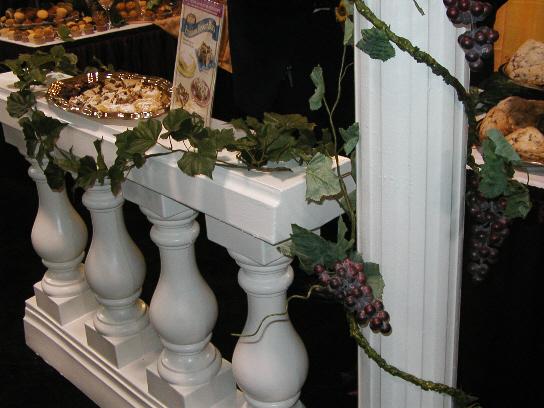 Balustrades, Roman Columns and Grapevines