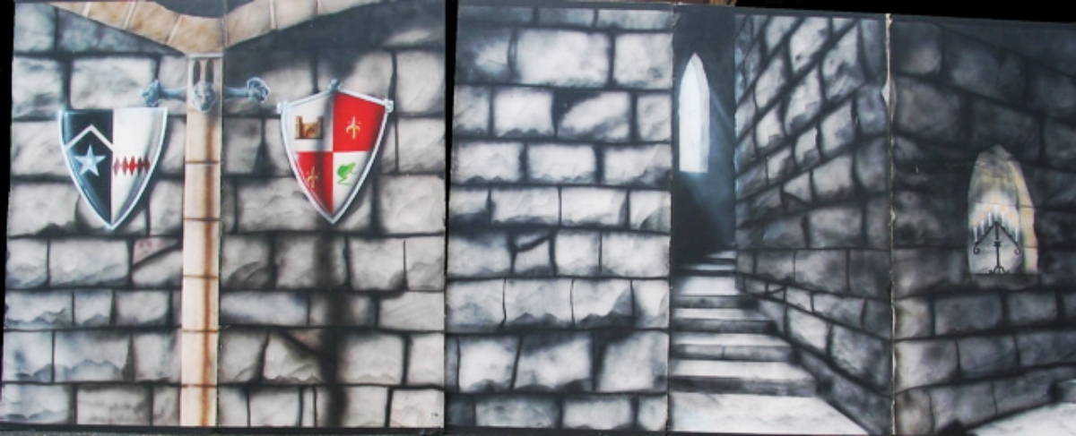 Medieval Castle 6: Scene is 8' high and 20' wide, foamcore