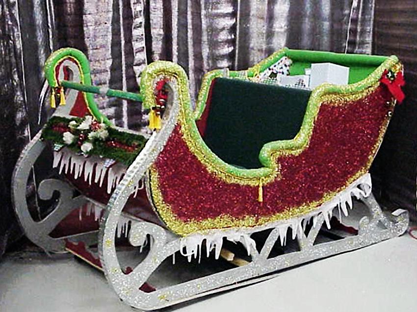 Santa Prop Sleigh: Great for presents, Santa or a photo op.