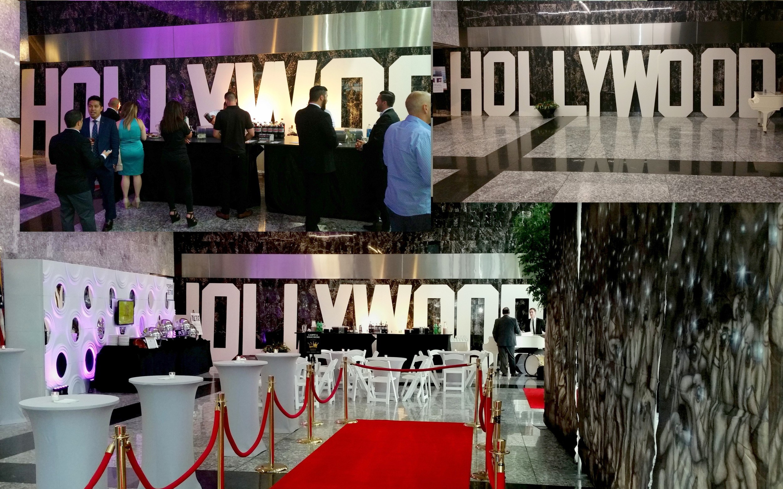 HOLLYWOOD Letters 8' tall and approximately 45' wide