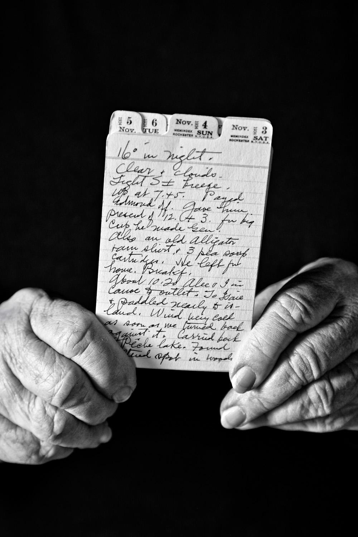 Juanita with Diary Notes, 2011