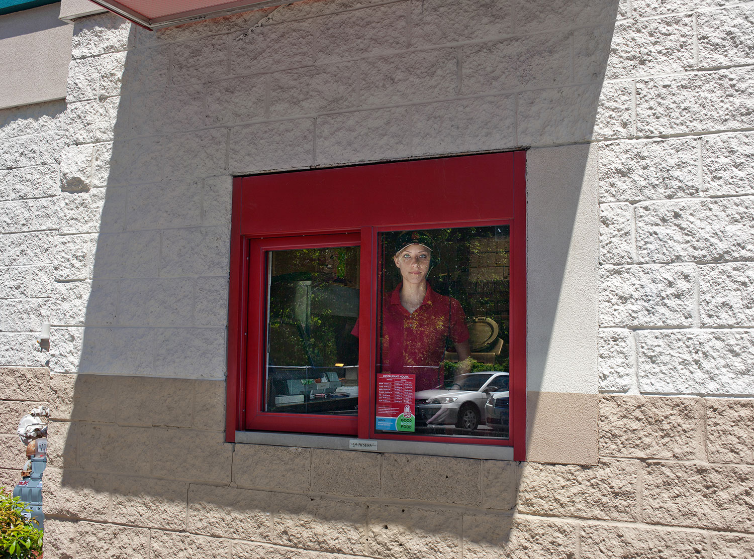 Arby's Girl. Boston Post Road, CT,  2012  Archival fiber inkjet print mounted to yellow sintra  20 x 30 inches