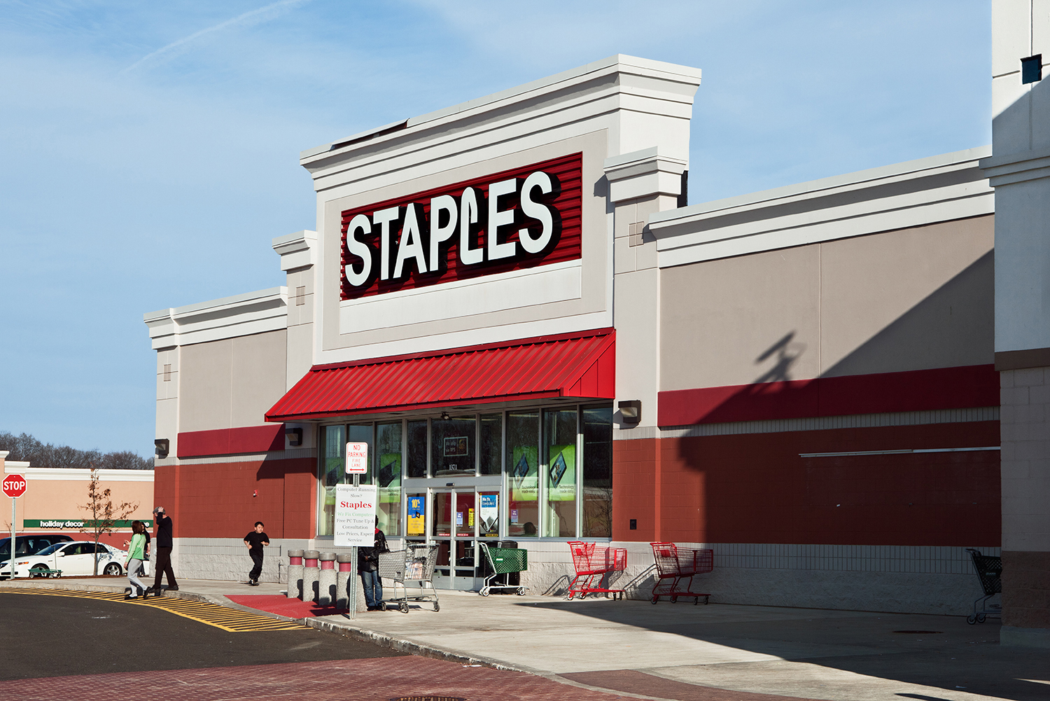 Staples. Boston Post Road, CT,  2011  Archival fiber inkjet print mounted to yellow sintra  20 x 30 inches