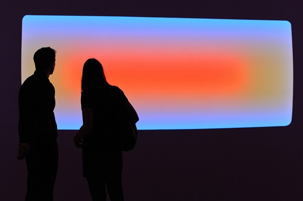 Following  James Turrell's three U.S.-museum retrospective this past summer , the artist's work is once again on display, this time at Pace London. For those who were not able to see the U.S. exhibitions, Pace Gallery wanted to bring the work to London so that audiences in the United Kingdom could also experience some of Turrell's work firsthand.