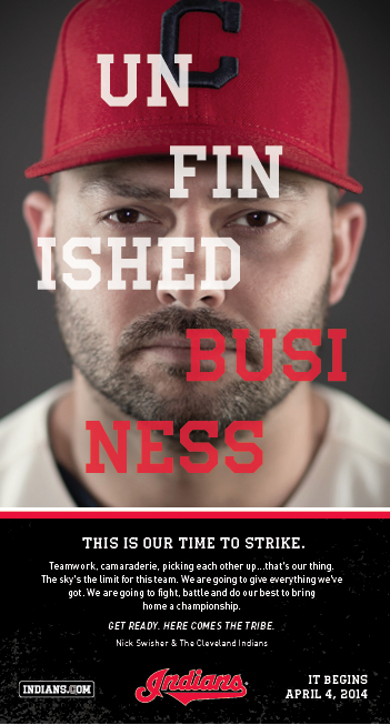 """Nick Swisher, Unfinished Business""- Print Ad Campaign 2014"