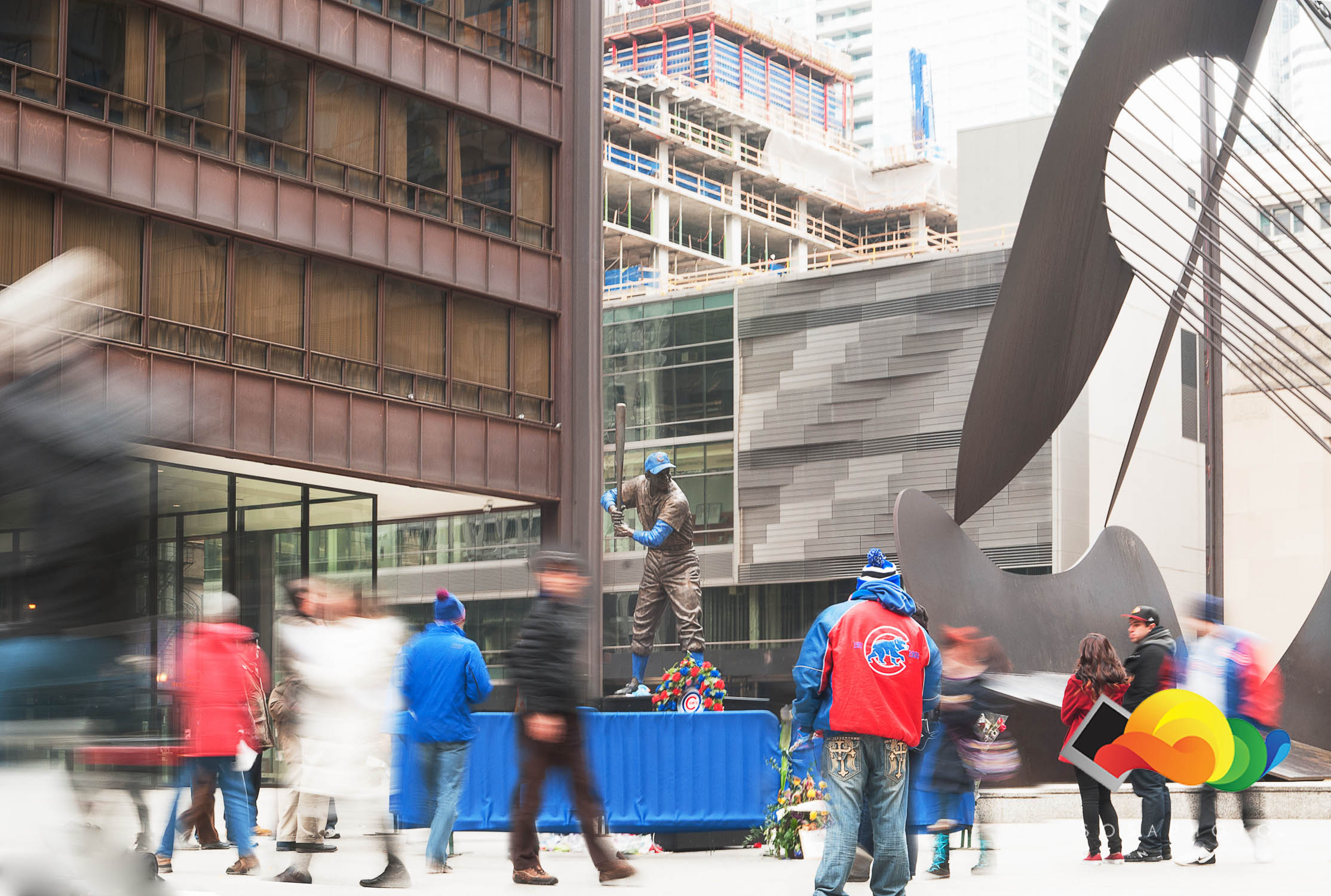 Ernie Banks Tribute in Downtown Chicago; ©Sosaphoto2015