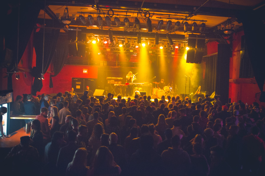 Crowd at Starlite Room in Edmonton Alberta