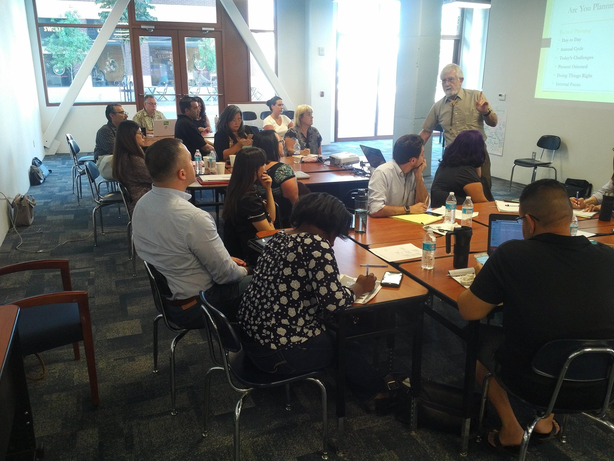 Leadership High School Network boards retreat