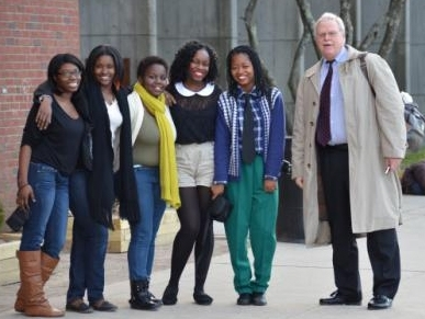 at Randolph HS w~ Senior women students.jpg