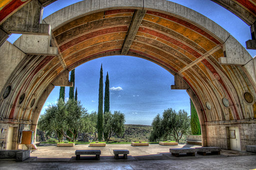 By Cody from Phoenix, AZ (arcosanti vaults) [CC BY 2.0  (https://creativecommons.org/licenses/by/2.0)],  via Wikimedia Commons
