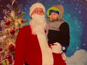 Santa at a Family Game Night