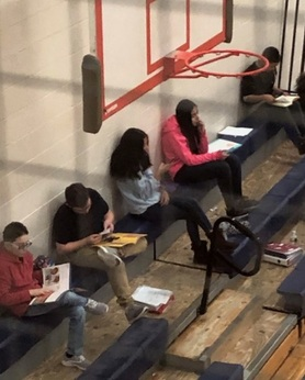 """Calcutt Reads"" -students read before gym class"