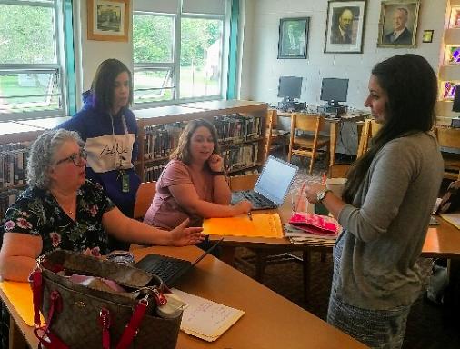 Dr. Katrina Kennett with Pembroke educators