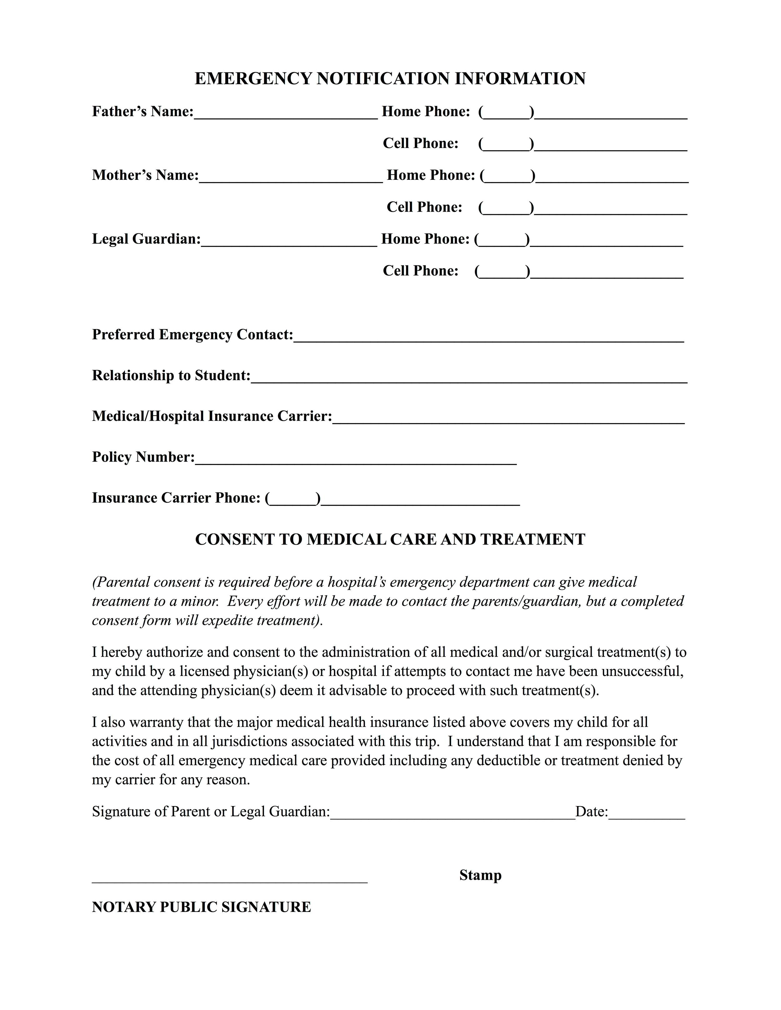 Medical Form Page 2