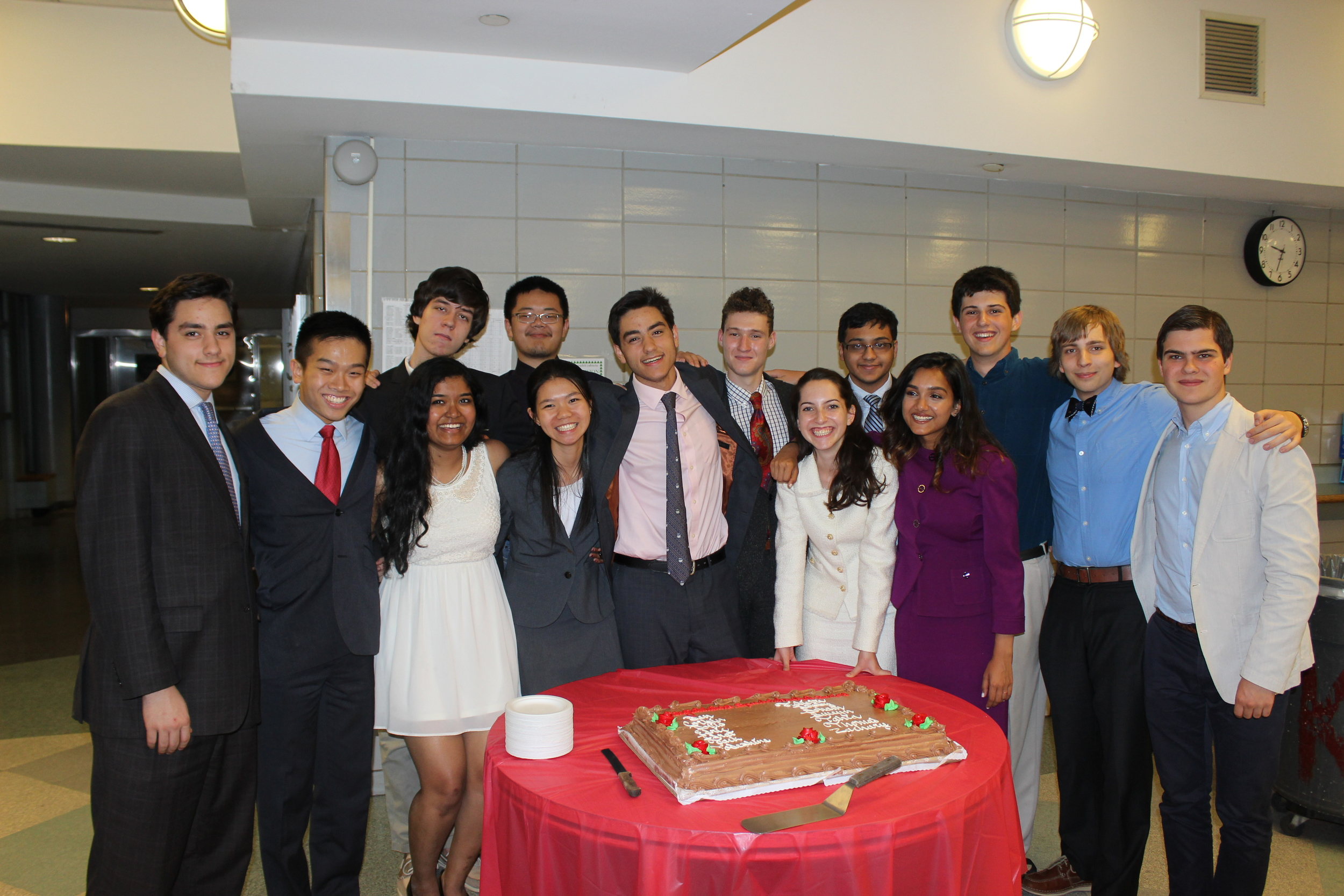 Seniors at the 2014 Annual Dinner
