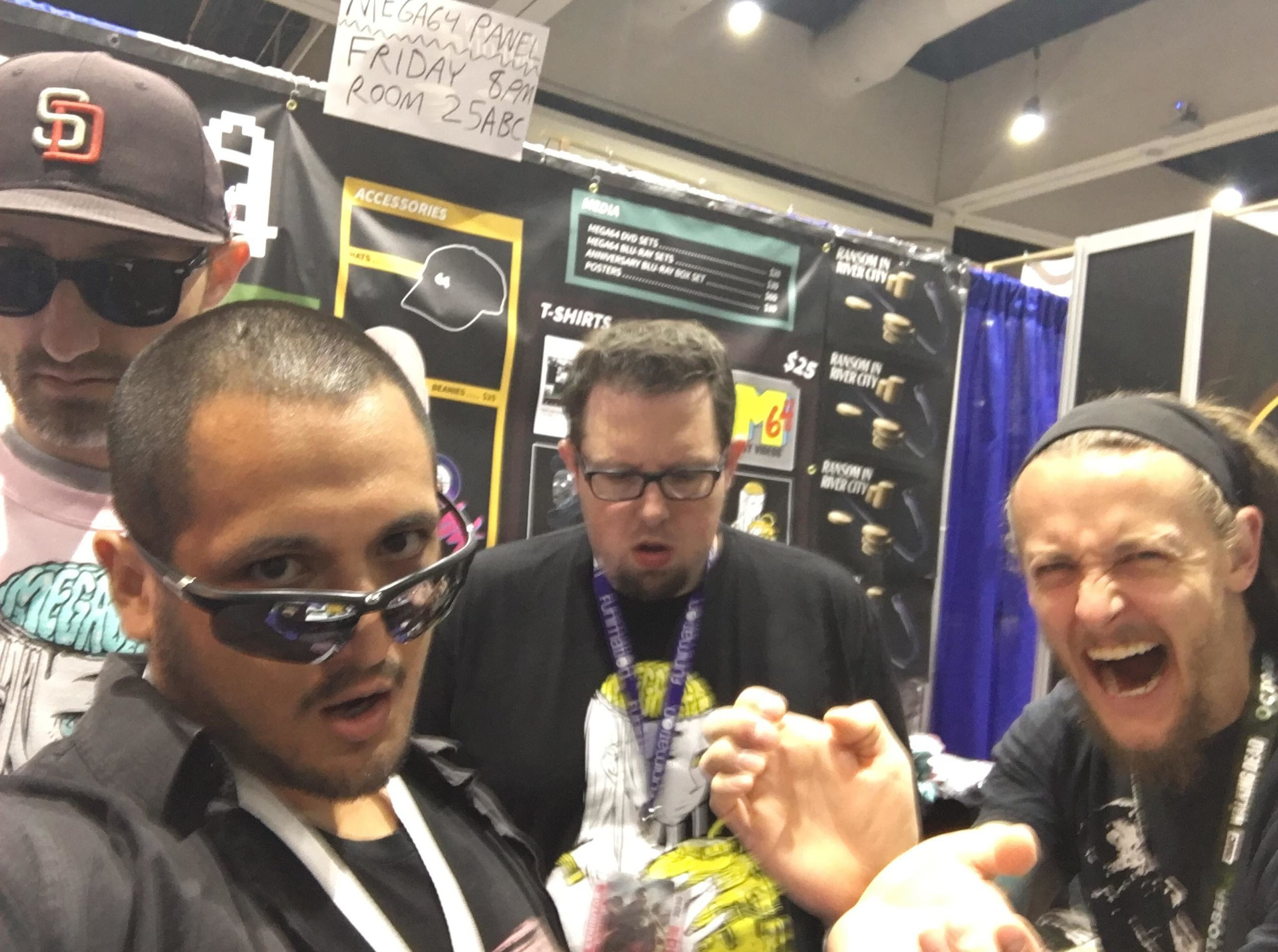 Selfie with Mega64 at San Diego Comic Con.