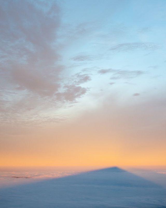 Mt Diablo casts a long shadow at sunrise.