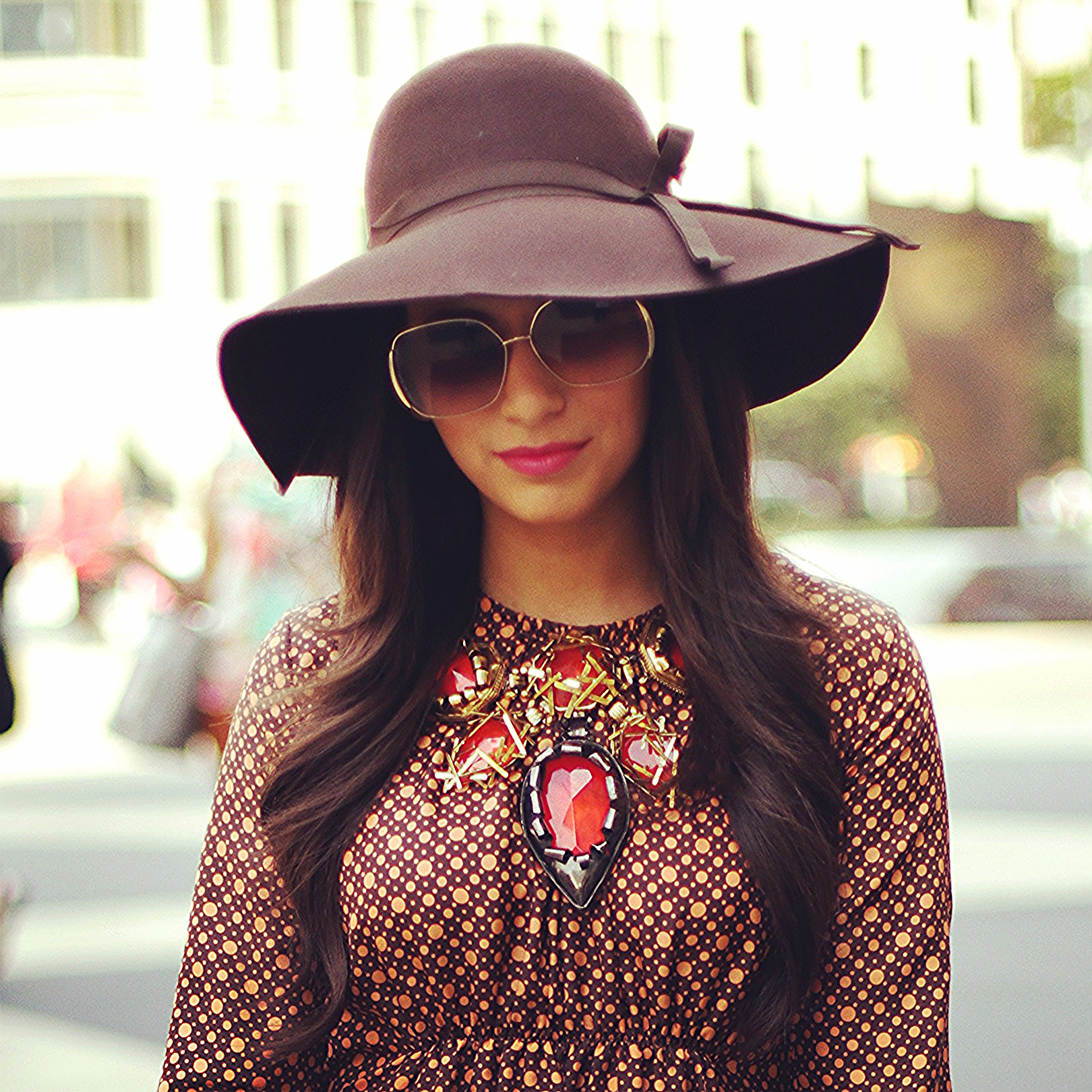 Marni dress,   Ralph Lauren  hat,  Marc by Marc Jacobs  sunglasses, Erickson Beamon necklace (e-mail me to special order)