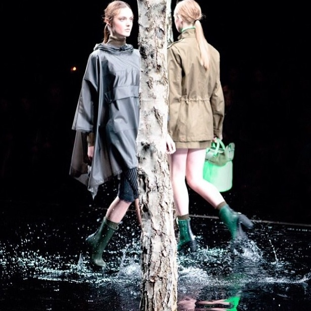 Heeled Rain Boots on the Runway at the Hunter Original F/W 2014 Show in London