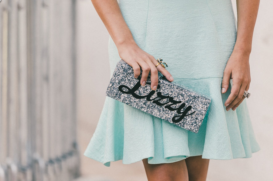 Clutch: Edie Parker, Dress: ASOS  Photo: Driely S for Racked