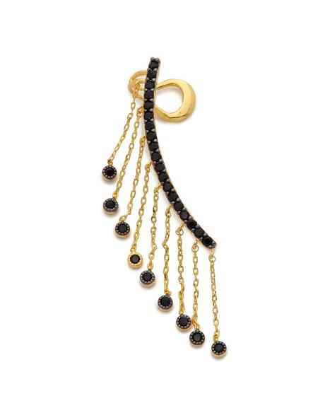 Noir Jewelry  Tassel Ear Crawler, $120
