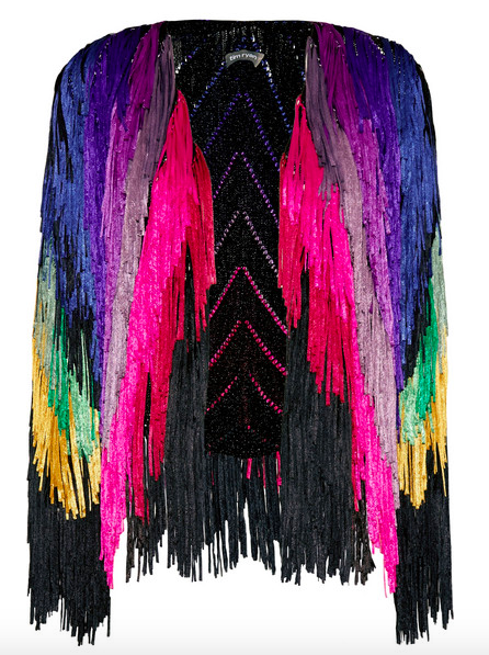 Tim Ryan Metallic Fringed Beaded Jacket  ($2515)