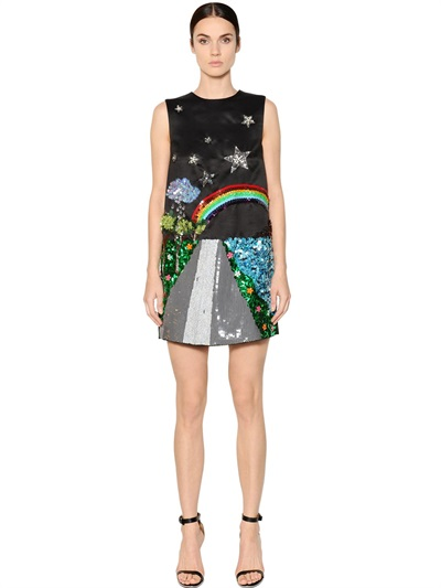 GEM Rainbow Embellished Dress  ($1914)