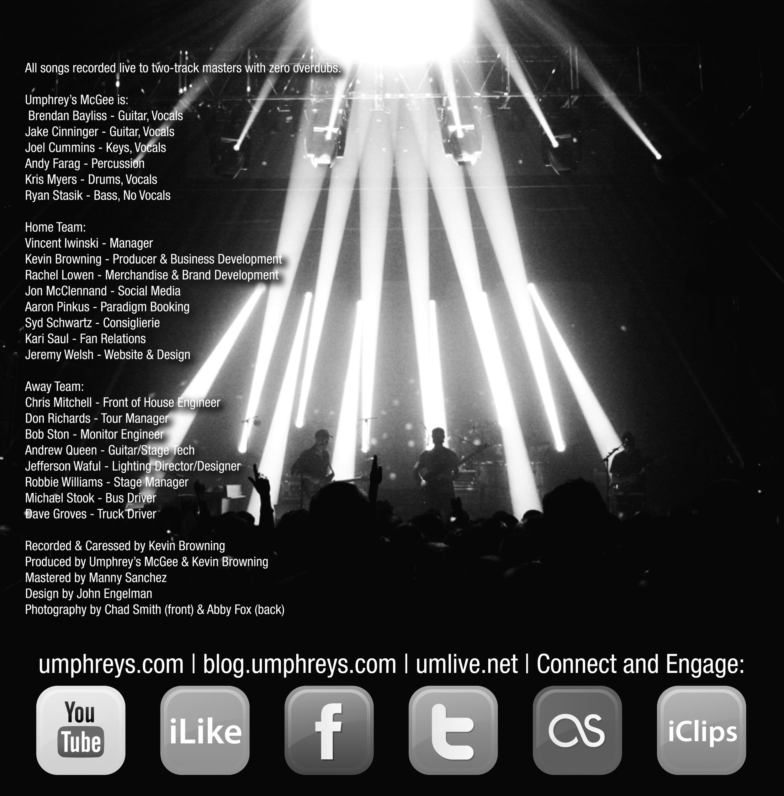 Umphrey's McGee Hall Of Fame: Class of 2011 Insert Back