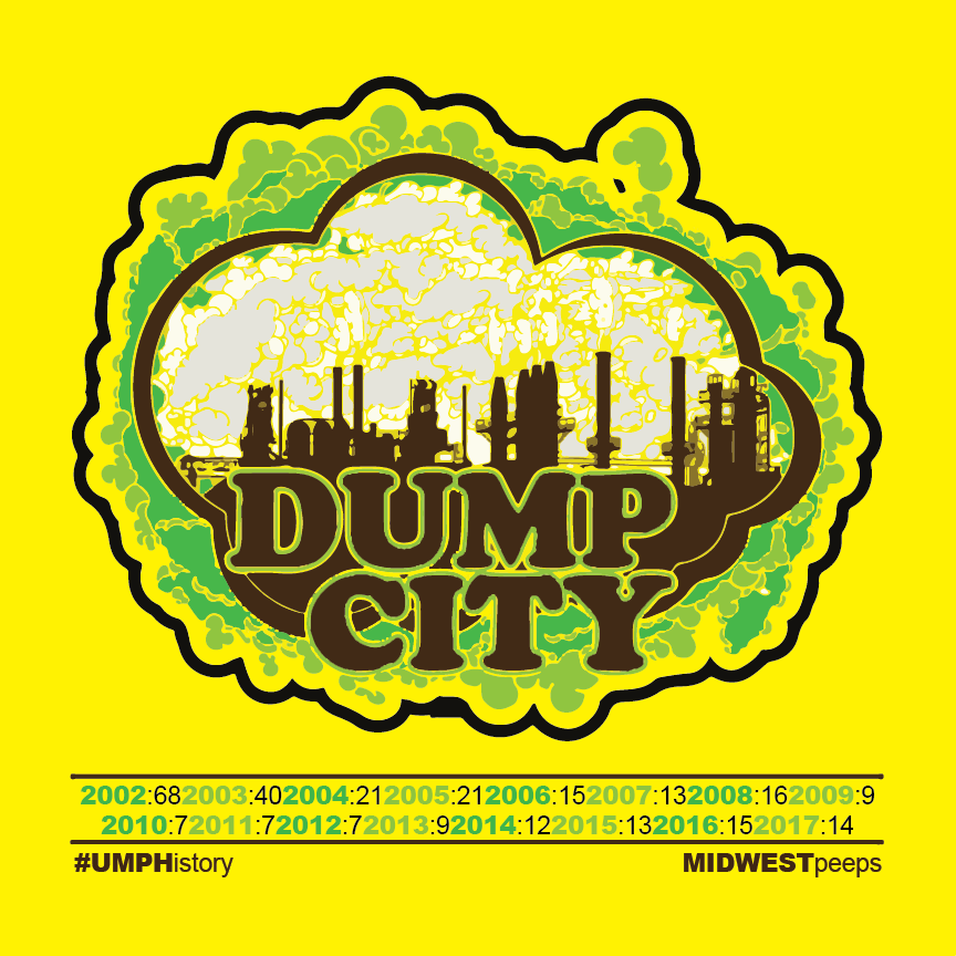 DUMP CITY. Stickers available now! #UMPHistory