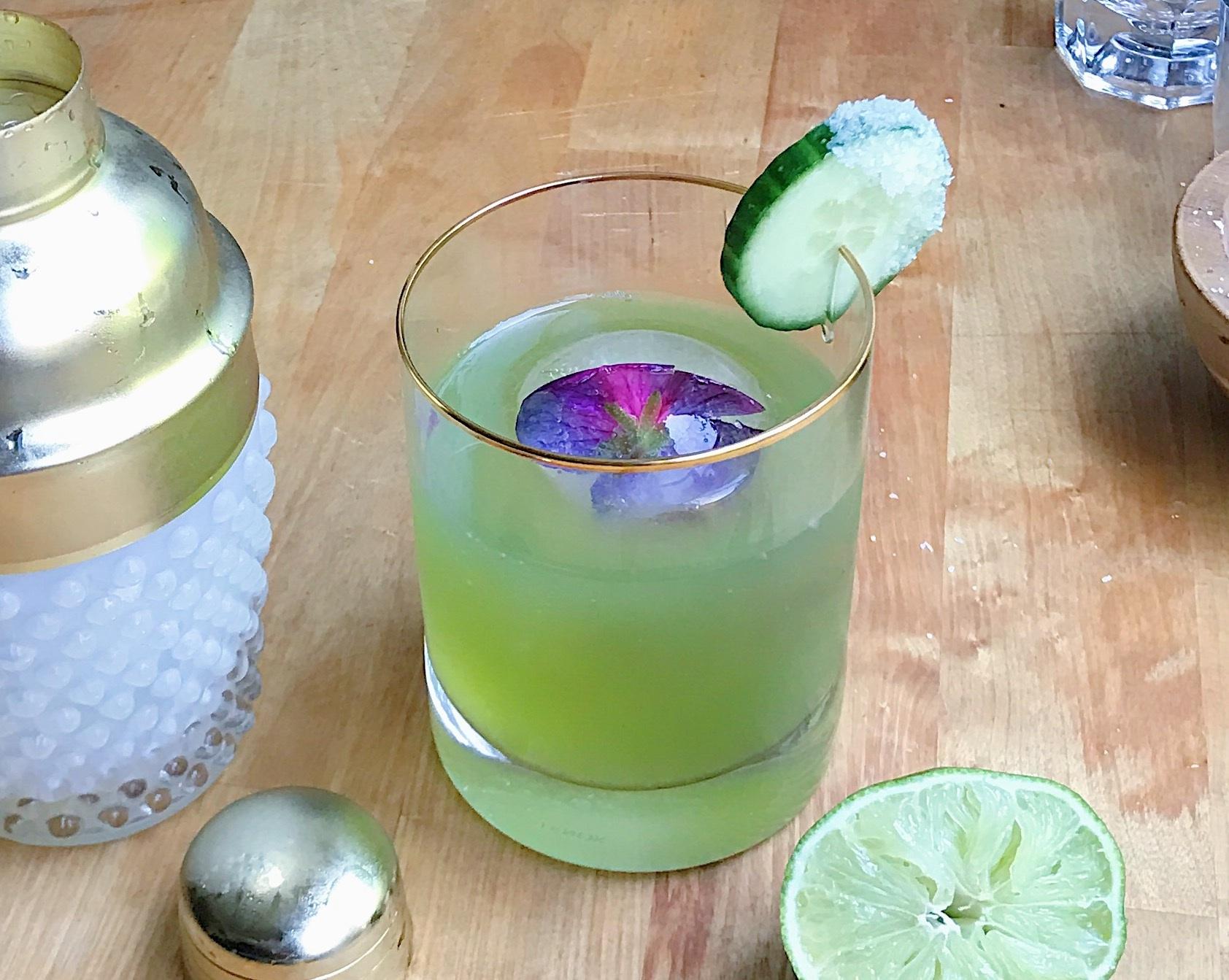 Honey + Cucumber Margarita