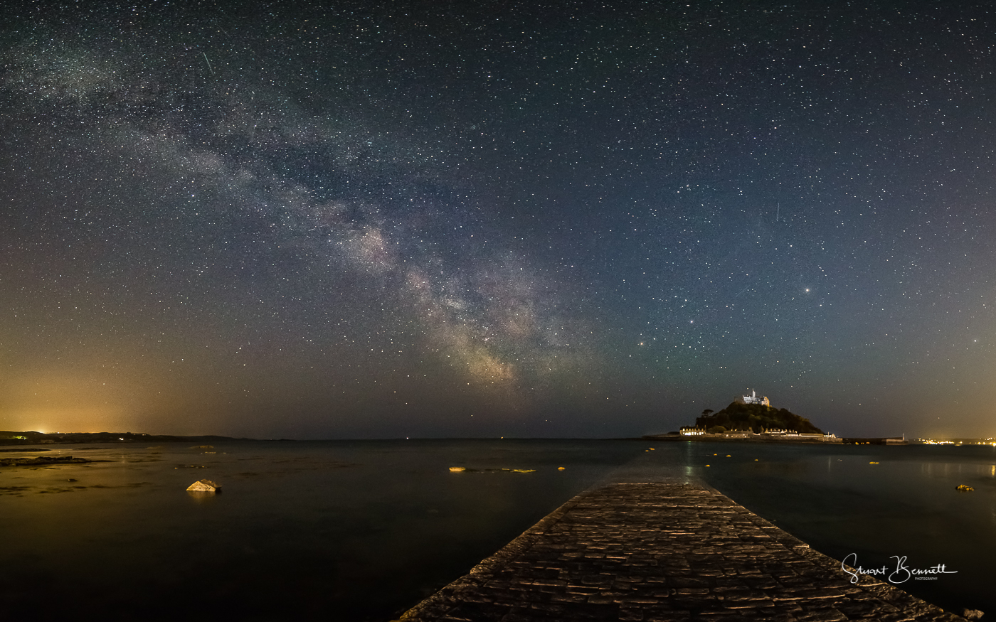 St Michaels Mount Milky Way Panorama.JPG