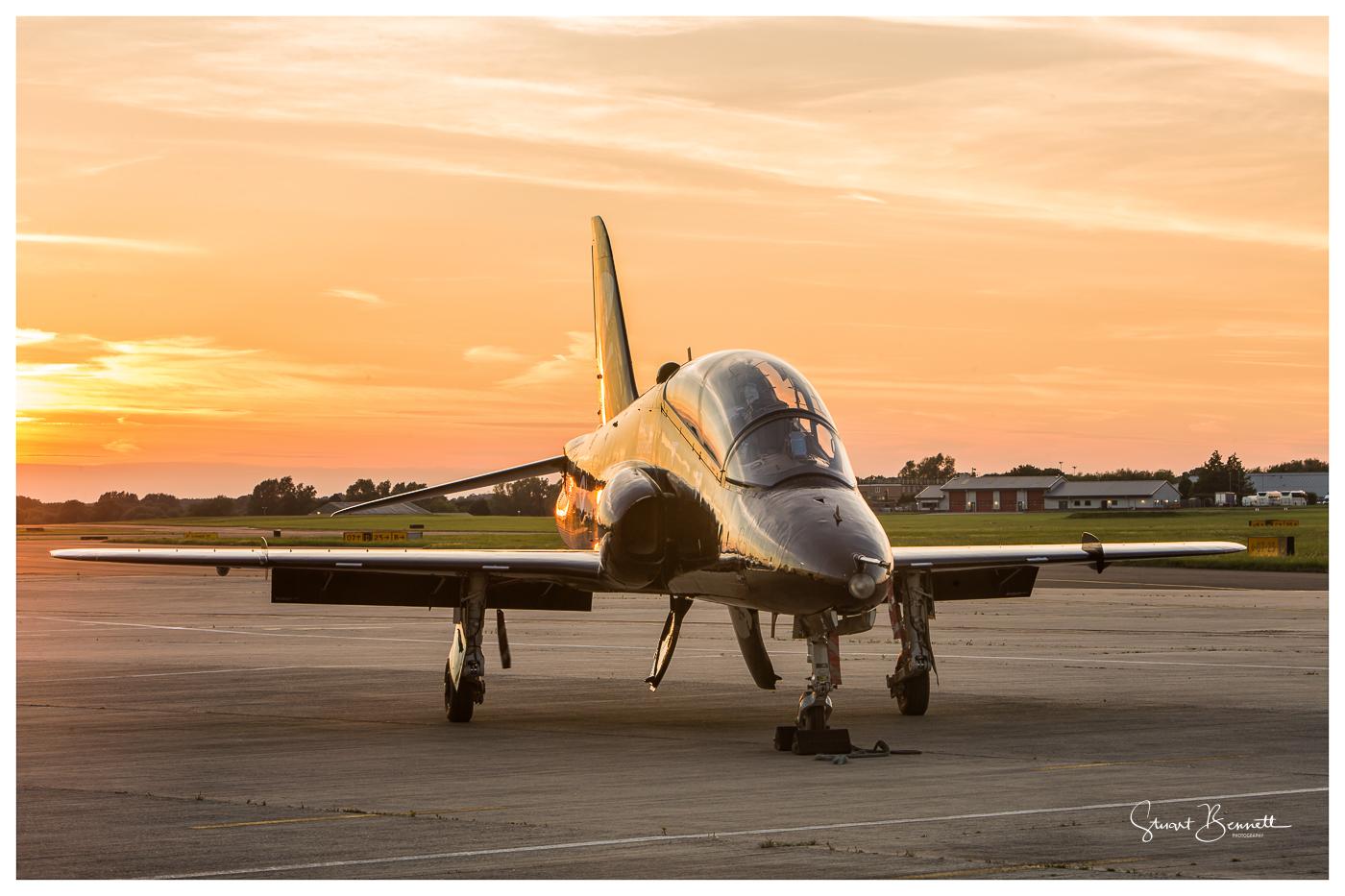 RAF Northolt Nightshoot - Hawk Sunset.JPG