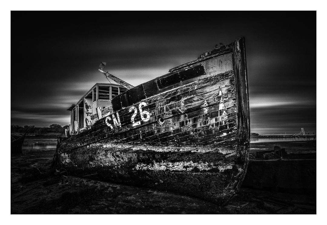 An Old hulk rusting away in Gosport