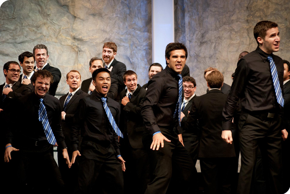 Voices of Gotham at the 2012  Barbershop Harmony Society 's International Chorus Contest, Portland, OR.