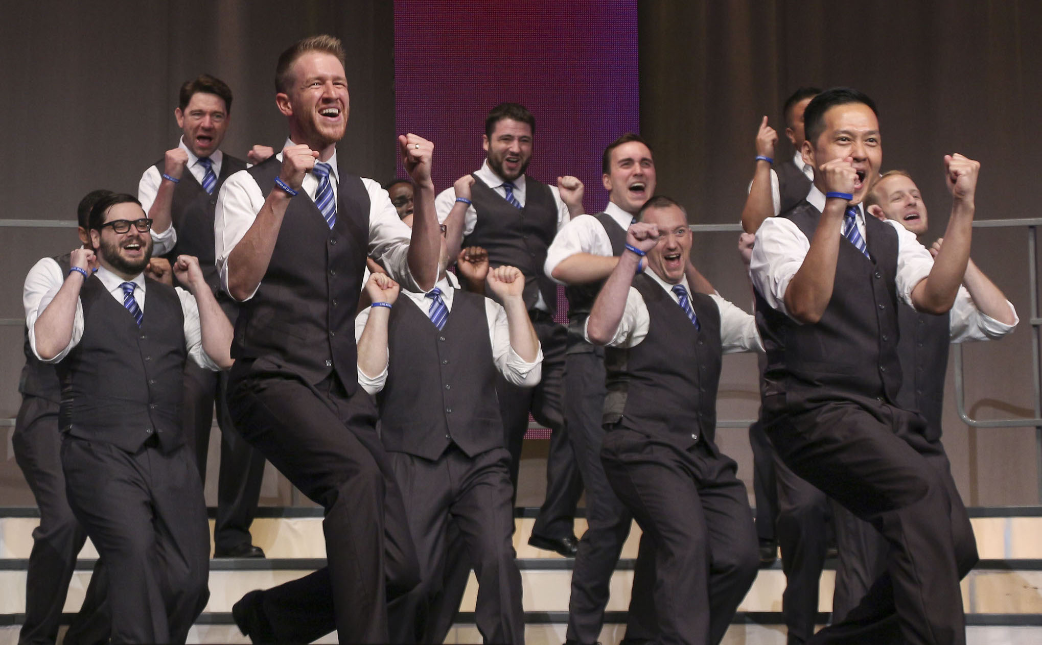 Many thanks to the Barbershop Harmony Society, the Mid-Atlantic District, and most of all, our friends, families, and fans for their continued support throughout the year. (Photo credit Barbershop Harmony Society / Lorin May)