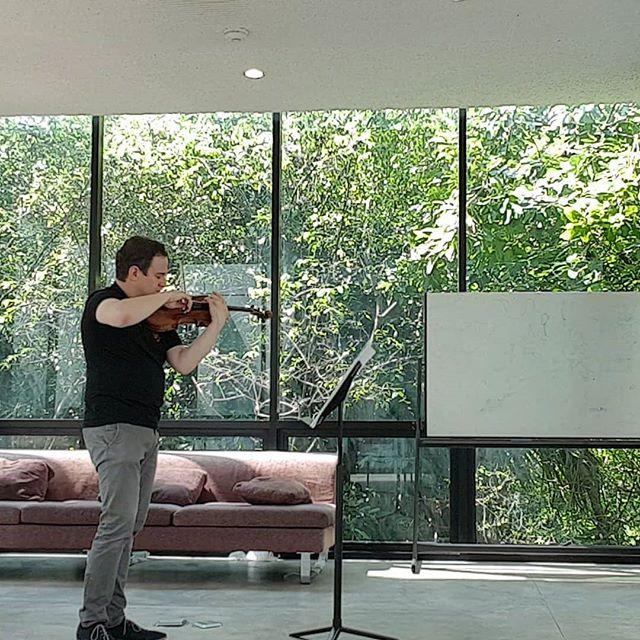 Practice in the jungle before my rehearsal. #bangkok @thailandphilharmonicorchestra #sibelius #violin #violinist