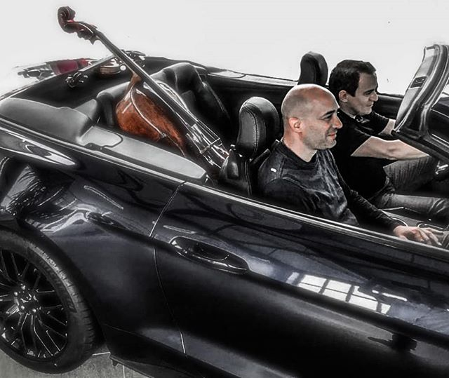 When you give and concert in a Ford showroom... Playing with unlimited speed on the Autobahn