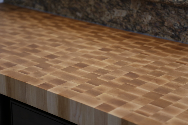 Hard Sugar Maple Countertop, End Grain
