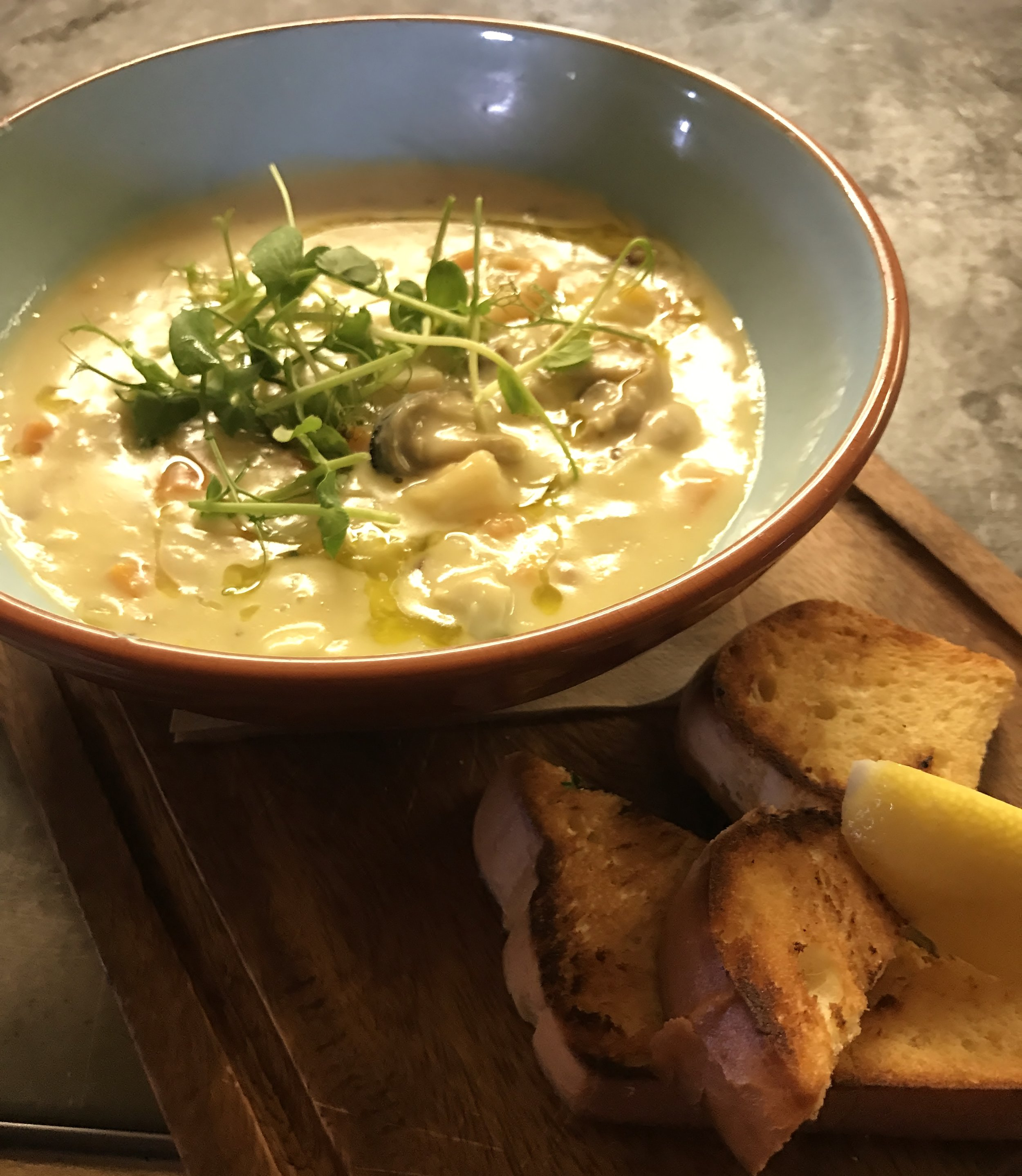 Stables Creamy Seafood Chowder