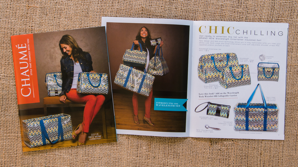 Chaumé 2013 Fall/Winter Collection Catalog // Front Cover & Wavelength Collection Inside Spread