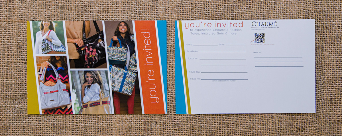 Chaumé 2013 Fall/Winter Collection Postcard Invitation // Front & Back