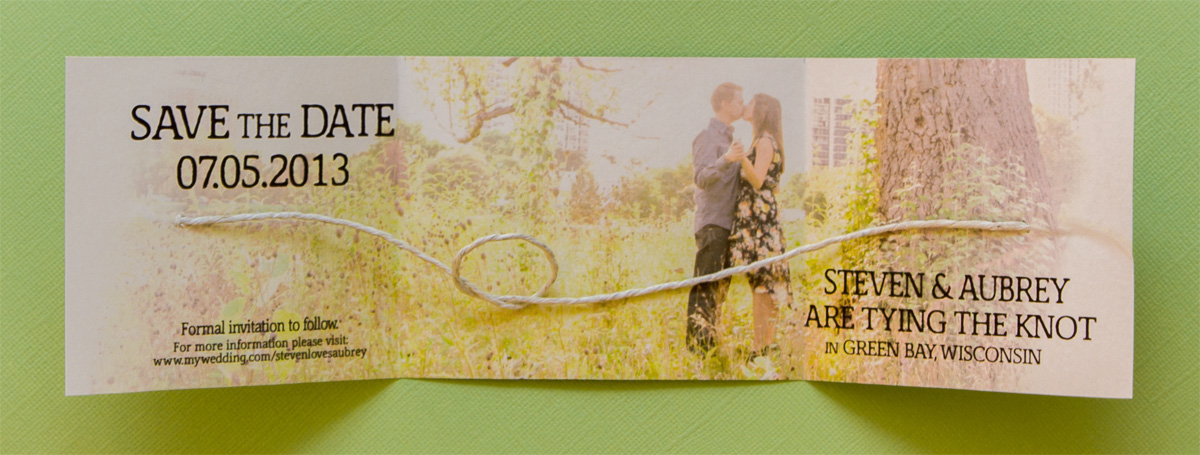 Winters' Wedding Save-the-Date // Tying the Knot Design