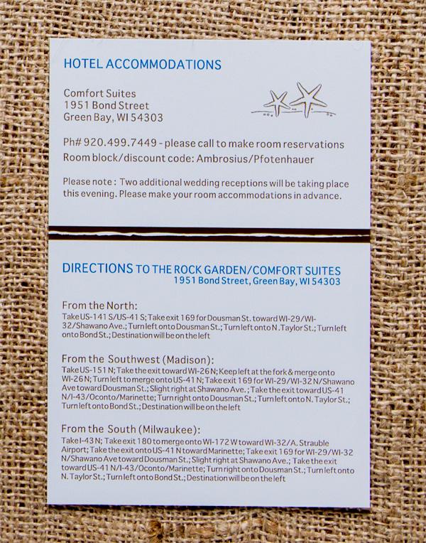 Pfotenhauer's Reception Hotel & Direction Card