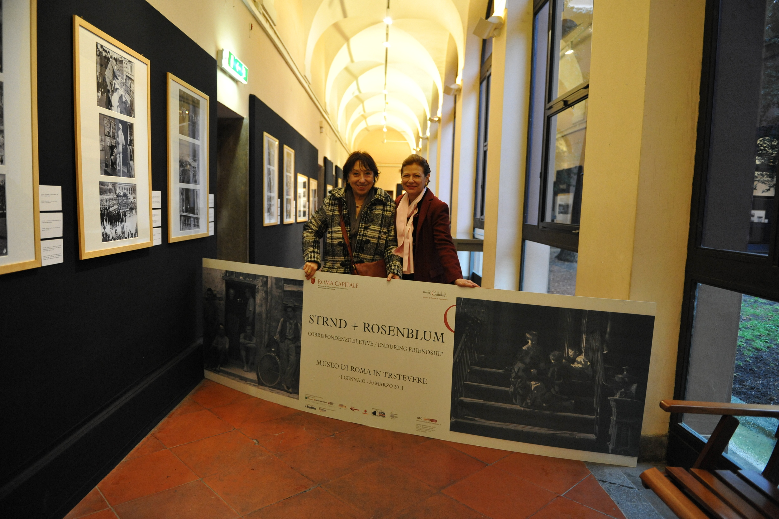 Nina Rosenblum with Curator Maria Paola Fornasiero