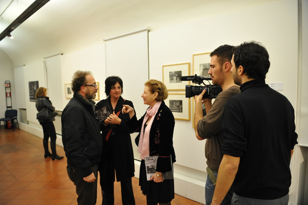 Manuela Fugenzi being interviewed by Nina Rosenblum