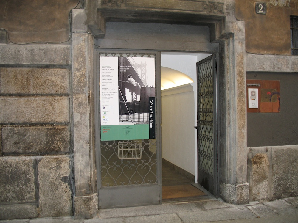 Exhibition sign, Centro Culturale di Milano