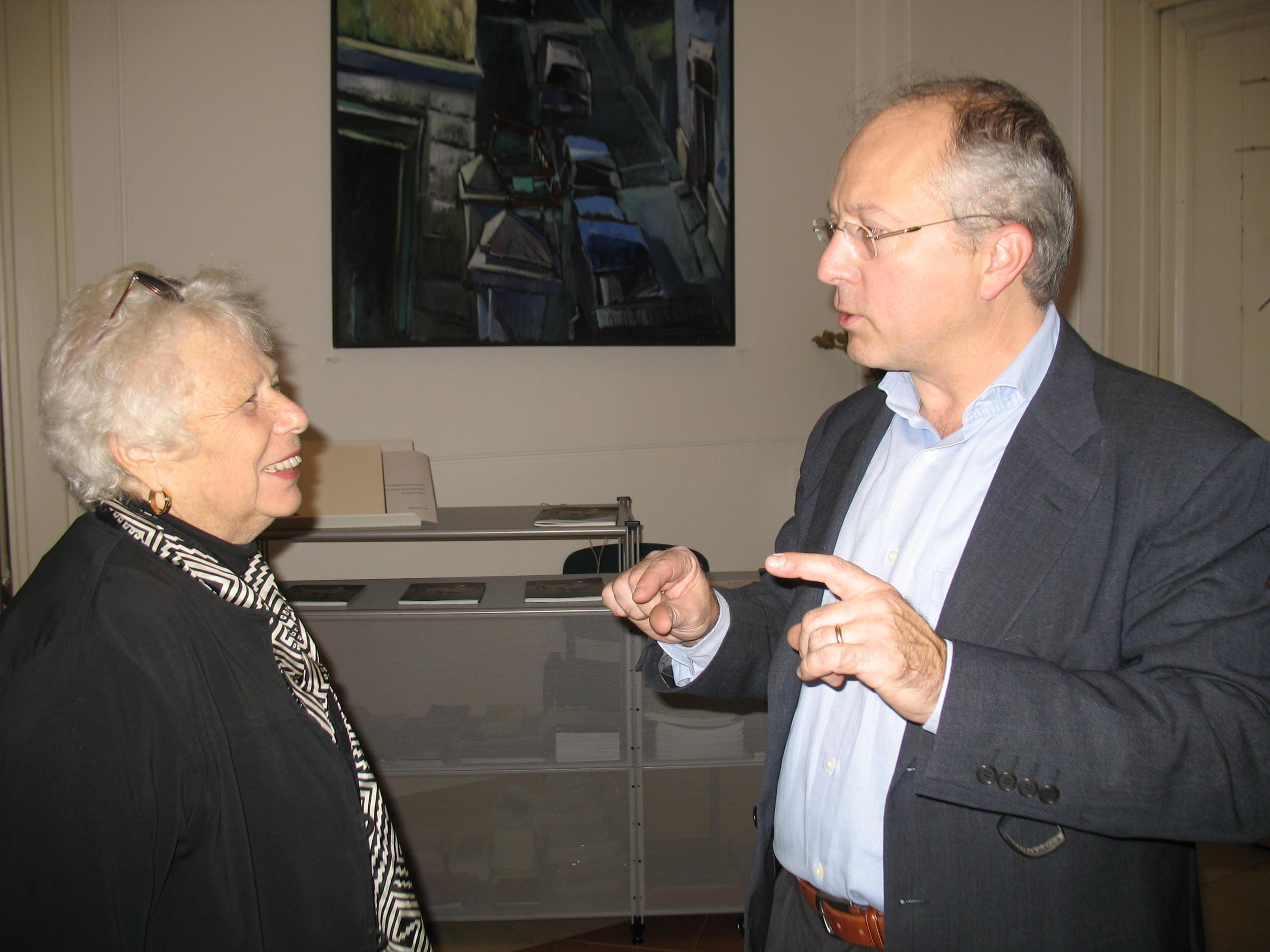 Naomi Rosenblum with Director of the CMC, Camillo Fornasieri